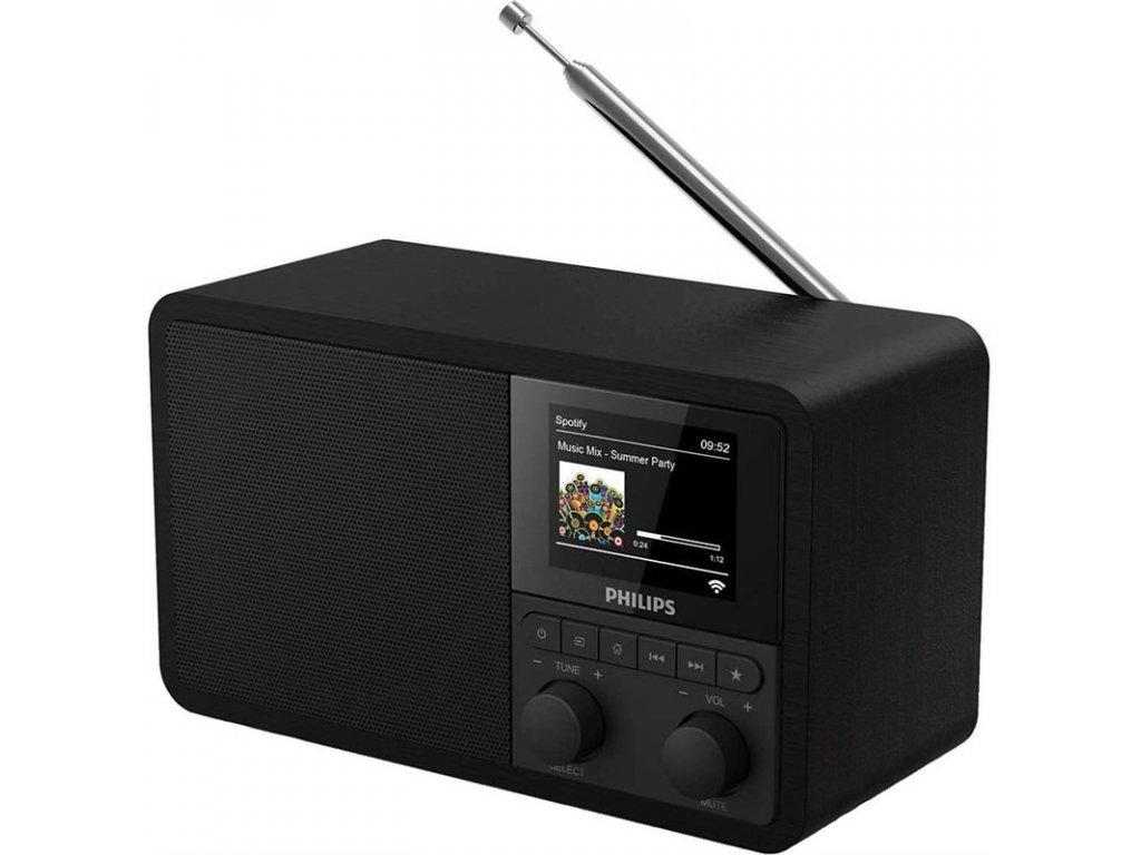Internetový radiopřijímač Philips TAPR802 černý  Vráceno ve 14ti denní lhůtě - Drobné oděrky