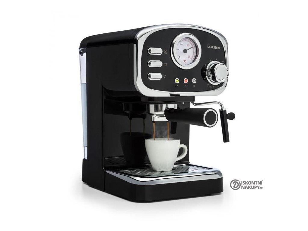 Espresso Klarstein Espressionata Gusto černé  odzkoušeno - vráceno - kosmetické oděrky