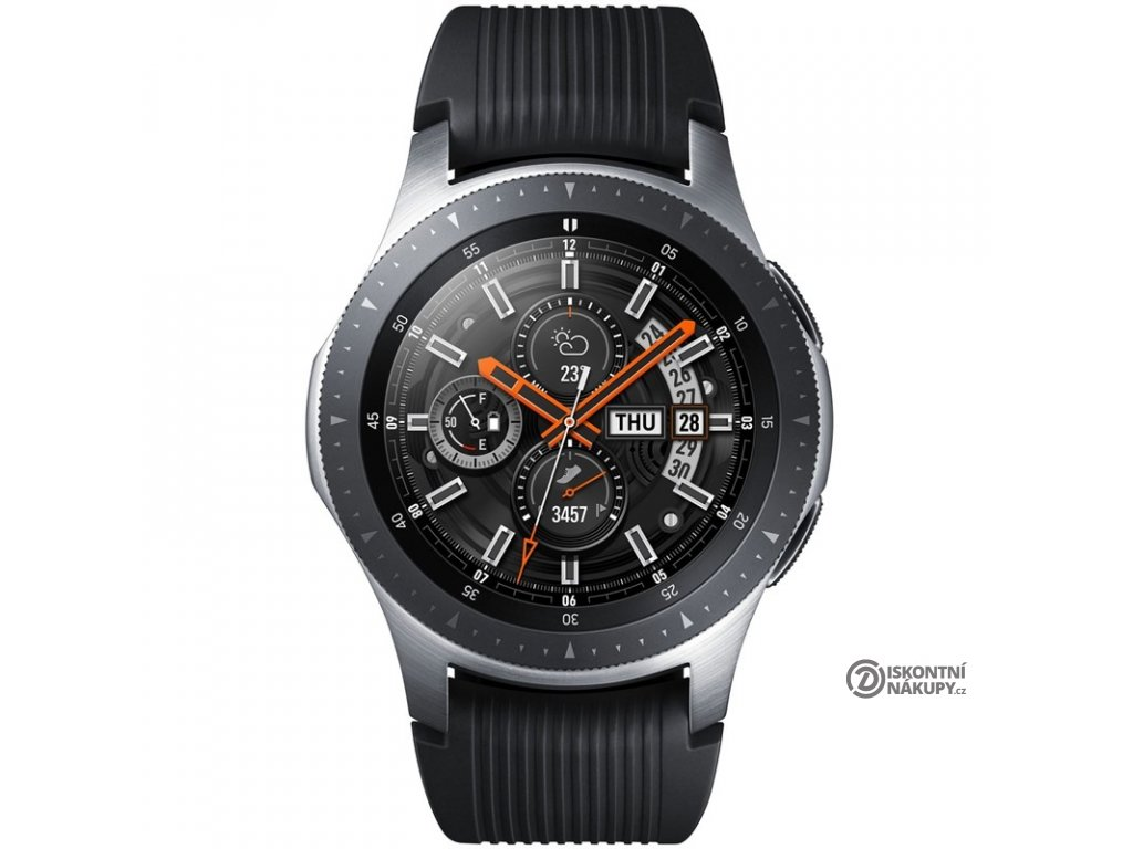 Chytré hodinky Samsung Galaxy Watch 46mm LTE stříbrné  Vráceno ve 14ti denní lhůtě - Kosmetické oděrky na stříbrném povrchu