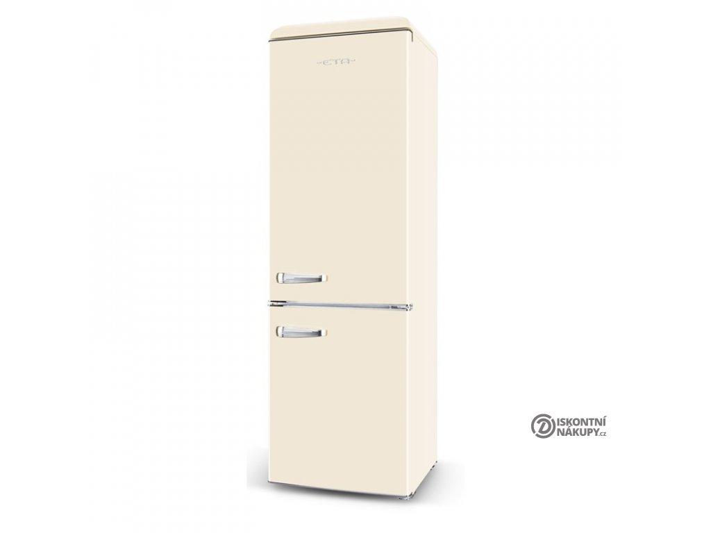 Chladnička s mrazničkou ETA Storio 253090040E béžová  nepoužito-malá oděrka na dvířkách