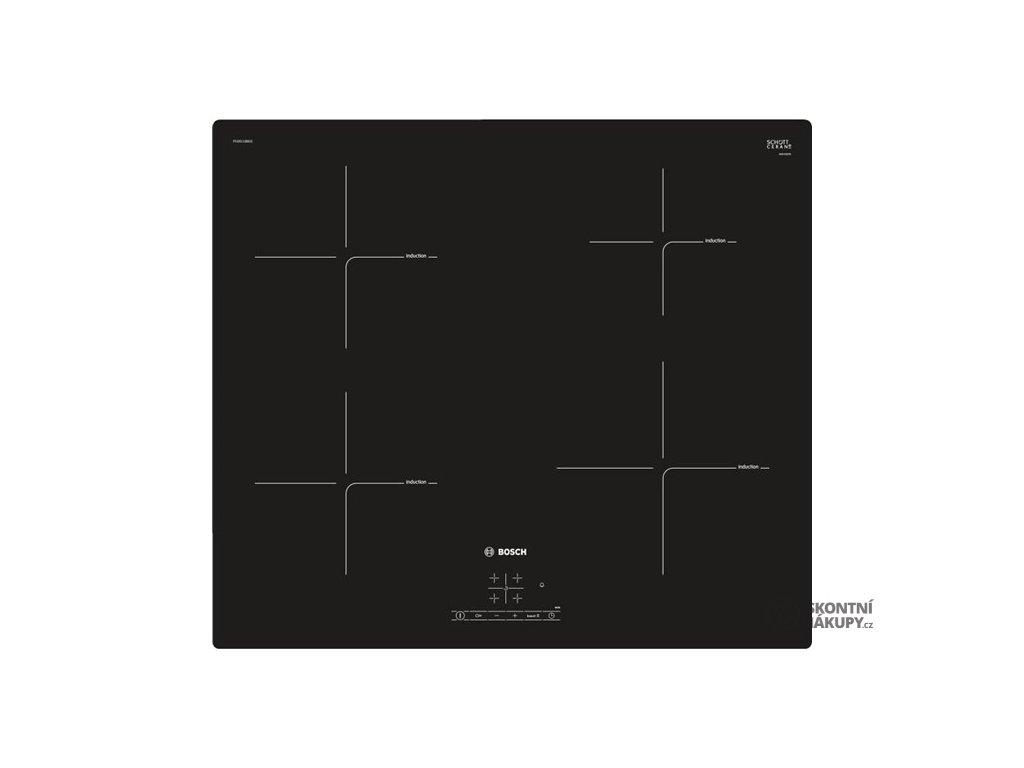 Indukční varná deska Bosch PUE611BB1E černá  vystaveno na prodejně - kosmetické oděrky na desce