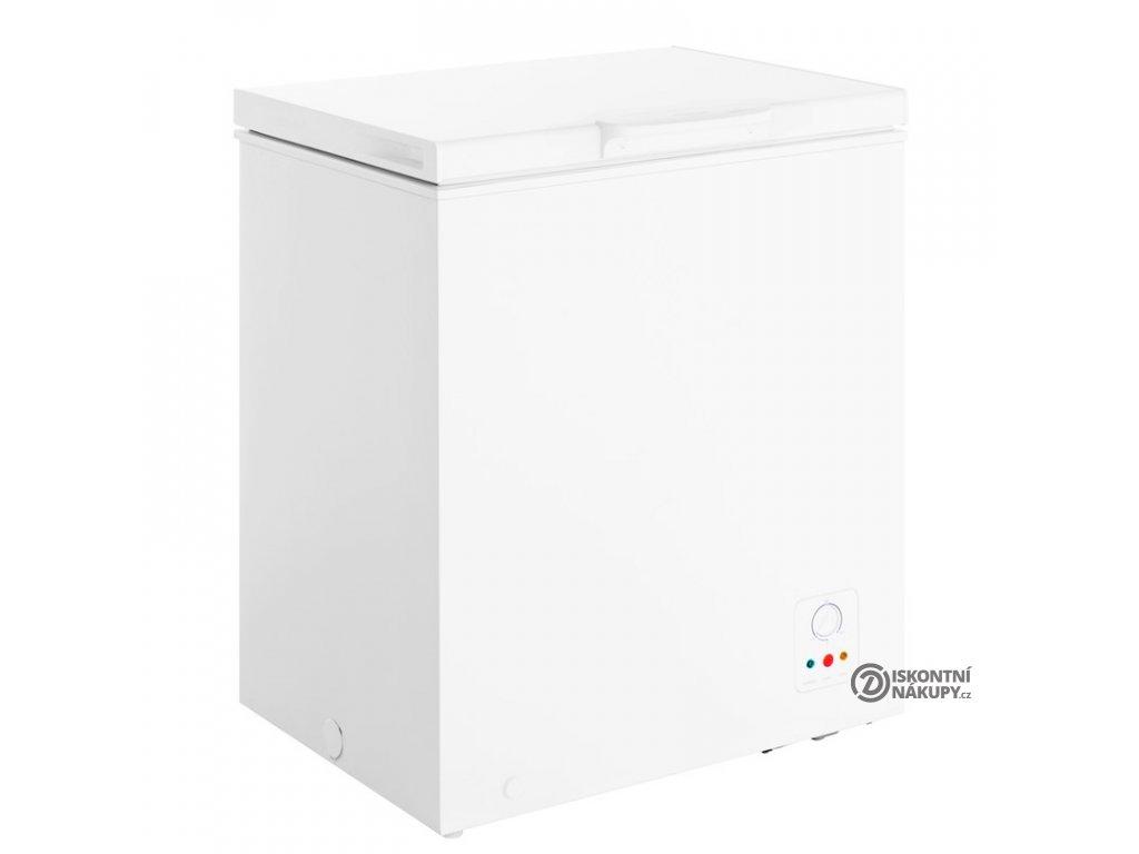 Mraznička Hisense FC184D4AW1 bílá  nepoužito-deformace plechu-poškozený plast ve víku
