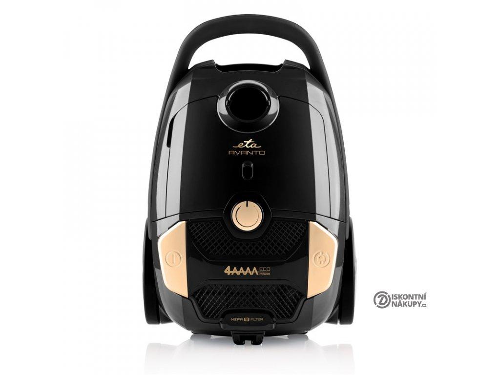 Podlahový vysavač ETA Avanto 1519 90000 černý  nepoužito-poškozená krabice- černý lesklý povrch drobné oděrky
