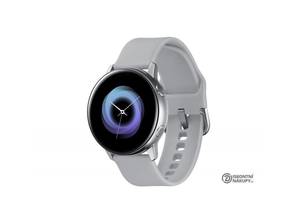 Chytré hodinky Samsung Galaxy Watch Active stříbrná  samsmr500nzsaxez