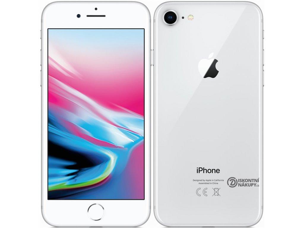 Mobilní telefon Apple iPhone 8 64 GB - Silver  Vráceno ve 14ti denní lhůtě - Drobné škrábance na displeji