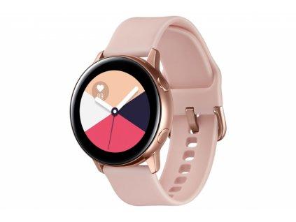 Chytré hodinky Samsung Galaxy Watch Active růžová/zlatá  samsmr500nzdaxez