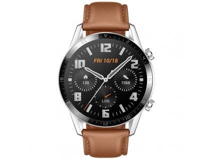 Chytré hodinky Huawei Watch GT 2 (46 mm) hnědé  Vráceno ve 14ti denní lhůtě
