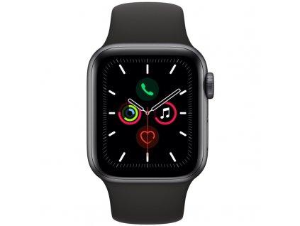 Chytré hodinky Apple Watch Series 5 GPS 40mm pouzdro z vesmírně šedého hliníku - černý sportovní řemínek SK (MWV82VR/A)  Vráceno ve 14ti denní lhůtě - Chybí vrchní přebal