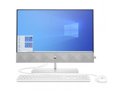 Počítač All In One HP Pavilion 24-k0003nc stříbrný (25P75EA#BCM)  POSKOZENY OBAL - VYSTAVENO