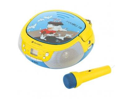 Radiopřijímač s CD GoGEN Maxipes Fík MAXIPREHRAVAC B modrý/žlutý  gogmaxiprehravacb