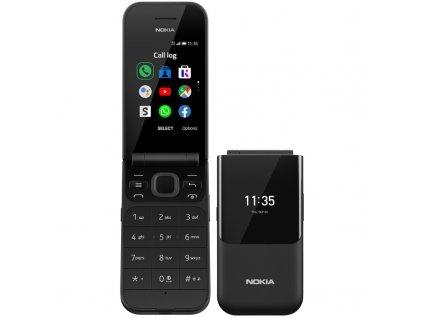 Mobilní telefon Nokia 2720 Flip Dual SIM černý  Vráceno - Kosmetické oděrky