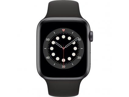 Chytré hodinky Apple Watch Series 6 GPS 40mm pouzdro z vesmírně šedého hliníku - černý sportovní náramek  Vráceno ve 14ti denní lhůtě - Oděrka na pouzdře