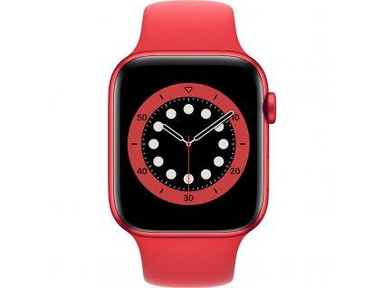 Chytré hodinky Apple Watch Series 6 GPS 44mm pouzdro z hliníku PRODUCT(RED) - PRODUCT(RED) sportovní náramek  VRACENO-DROBME ODERKY NA DISPLEJI