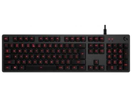 Klávesnice Logitech Gaming G413, červené podsvícení, US carbon (920-008310)  Poškozený obal - Vystaveno