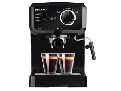 Espresso Sencor SES 1710BK černé  Nepoužito - Vystaveno - Poškozená krabice - Kosm.oděrky