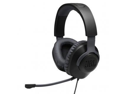 Headset JBL Quantum 100 černý  Vráceno ve 14ti denní lhůtě - chybí pěna na mikrofonu