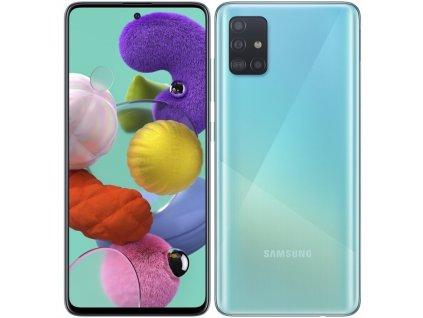 Mobilní telefon Samsung Galaxy A51 modrý  Vystaveno - záměna krabičky - oděrky na displeji