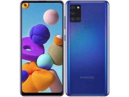 Mobilní telefon Samsung Galaxy A21s 64 GB modrý  Vráceno ve 14ti denní lhůtě - zadní strana kosmetické oděrky