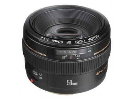 Objektiv Canon EF 50 mm f/1.4 USM černý  Vráceno ve 14ti denní lhůtě