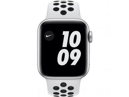 Chytré hodinky Apple Watch Nike Series 6 GPS 44mm pouzdro ze stříbrného hliníku - platinový/černý sportovní řemínek Nike  Vráceno ve 14ti denní lhůtě