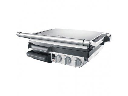 Gril SAGE BGR800GR stříbrný  nepoužito-malá oděrka na spodní desce-poškozená krabice