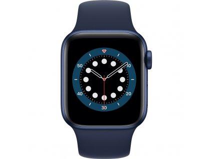 Chytré hodinky Apple Watch Series 6 GPS 44mm pouzdro z modrého hliníku - námořnicky tmavomodrý sportovní náramek  Vráceno ve 14ti denní lhůtě
