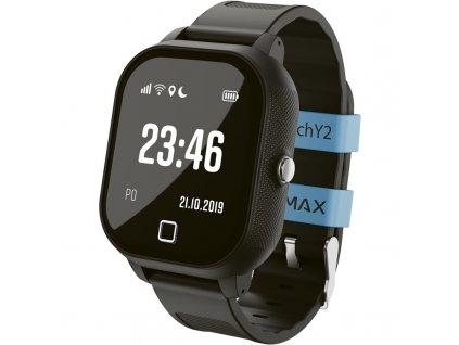 Chytré hodinky LAMAX WatchY2 černý  Vráceno ve 14ti denní lhůtě - kosmetické oděrky na displeji