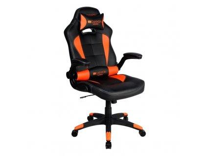 Herní židle Canyon Virgil černá/oranžová (CND-SGCH2)  Vráceno ve 14ti denní lhůtě