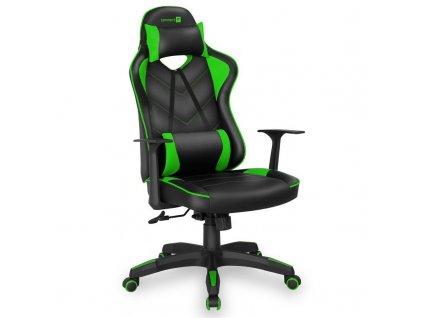 Herní židle Connect IT LeMans Pro černá/zelená (CGC-0700-GR)  Vráceno ve 14ti denní lhůtě