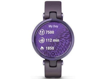 Chytré hodinky Garmin Lily Sport Midnight Orchid / Orchid Silicone Band  Vráceno ve 14ti denní lhůtě