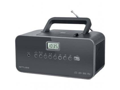 Radiopřijímač s CD MUSE M-28DG šedý  Vráceno ve 14ti denní lhůtě - kosmetické oděrky
