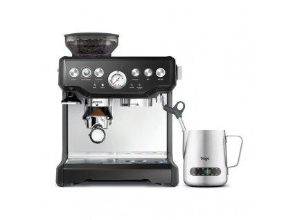 Espresso SAGE BES875BKS černé  Odzkoušeno-Vráceno-Poškozená krabice-Oděrky-Chybí nástroj pro zarovnání kávy