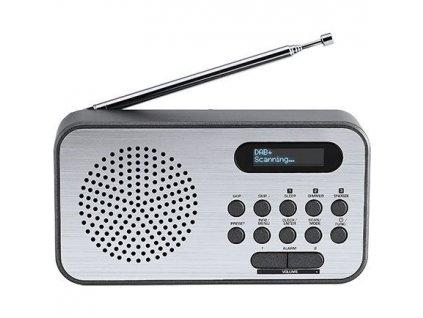 Radiopřijímač s DAB+ Thomson RT225DAB šedý/hliník  Vráceno ve 14ti denní lhůtě - Kosmetické oděrky