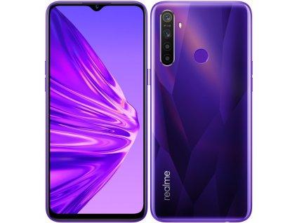 Mobilní telefon realme 5 Dual SIM fialový  Vráceno ve 14ti denní lhůtě