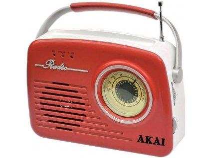 Radiopřijímač AKAI APR-11 červený  Vráceno ve 14ti denní lhůtě