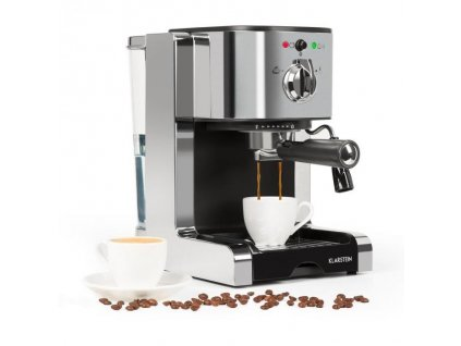 Espresso Klarstein Passionata 20 stříbrné  Nepoužito - Vystaveno - Oděrky - Poškozená krabice