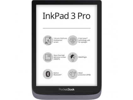 Čtečka e-knih Pocket Book 740 Inkpad3 Pro metalic Gray + ochranný obal  Vráceno ve 14ti denní lhůtě