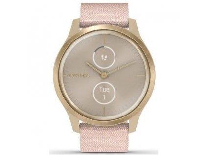 Chytré hodinky Garmin vivomove3 Style LightGold/Pink Nylon  Vraceno ve 14ti denní lhůtě