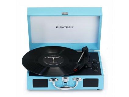 Gramofon Ricatech RTT21 Advanced modrý  Vráceno - kosmetické oděrky