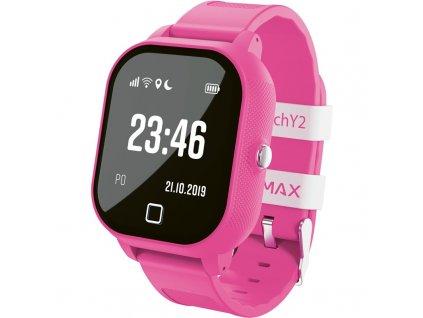 Chytré hodinky LAMAX WatchY2 růžový  Vráceno ve 14 ti denní lhůtě - Oděrky - Chybí SIM karta