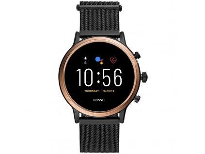 Chytré hodinky Fossil FTW6036 HR - Black stainless steel  Vráceno ve 14ti denní lhůtě