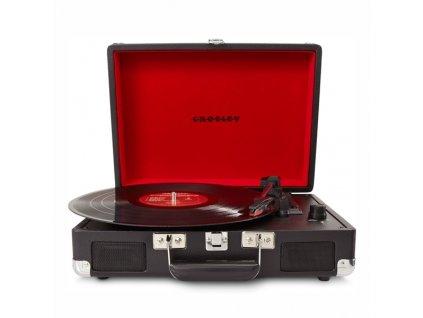 Gramofon Crosley Cruiser Deluxe černý  Vráceno ve 14 ti denní lhůtě - Kosmetické oděrky