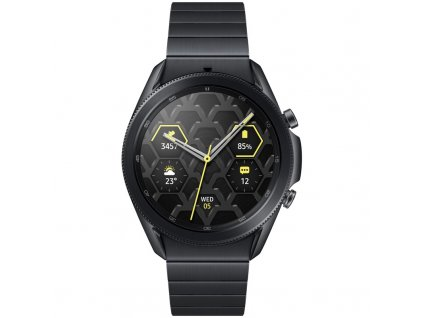 Chytré hodinky Samsung Watch3 45mm Titanium černé  Poškozený obal-vystaveno