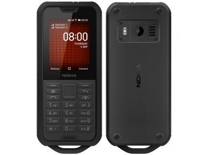 Mobilní telefon Nokia 800 Tough černý  Vráceno-oderky na displeji