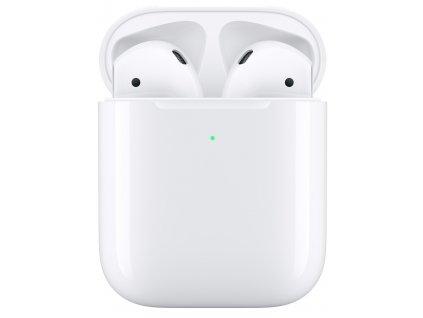 Sluchátka Apple AirPods, bezdrátové nabíjení (2019) bílá  Vráceno ve 14 ti denní lhůtě - Kosmetické oděrky na pouzdře
