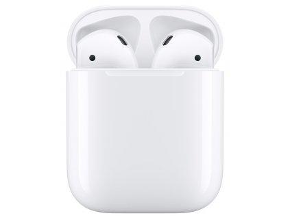 Sluchátka Apple AirPods (2019) bílá  Vráceno ve 14 ti denní lhůtě - Oděrky - Bez krabičky a kabelu