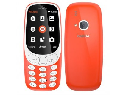 Mobilní telefon Nokia 3310 (2017) Dual SIM červený  Vráceno ve 14 ti denní lhůtě - Kosmetické oděrky na displeji
