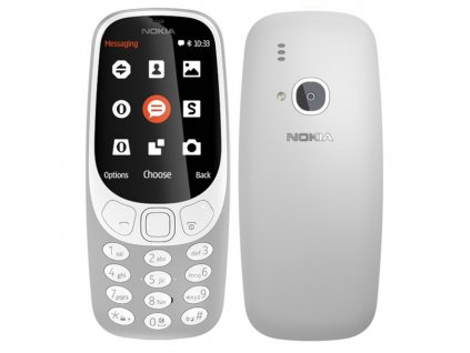 Mobilní telefon Nokia 3310 (2017) Dual SIM šedý  Vráceno ve 14 ti denní lhůtě - Kosmetické oděrky
