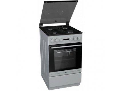 Kombinovaný sporák Mora Premium K 563 BS Inoxlook  nepoužito-oděrka vedle hořáku