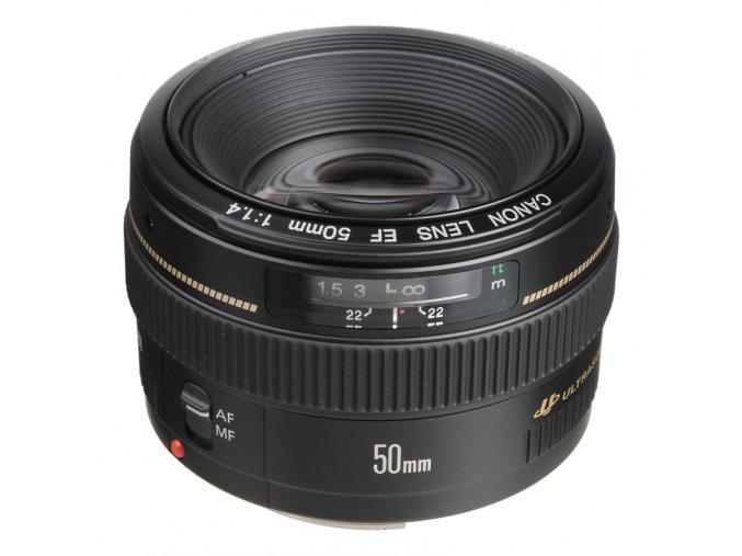 Objektiv Canon EF 50 mm f/1.4 USM černý  CANEF5014U